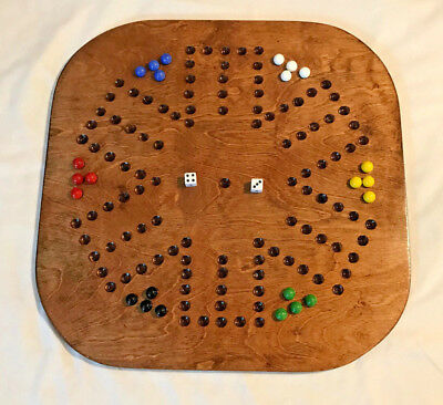 AGGRAVATION / WAHOO GAME – SIX PLAYER SQUARE WOODEN GAME BOARD  - Square Game