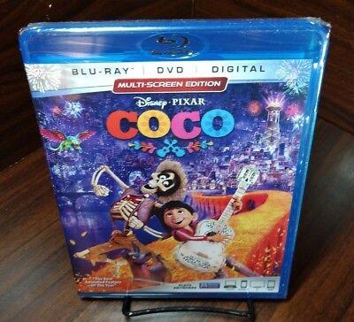 Disney Pixar's Coco (Blu-ray+DVD+HD Digital Code)NEW-Free Shipping with Tracking