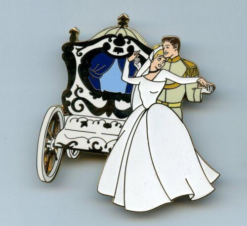 Disney Auctions Princess Cinderella Prince Charming Coach Wedding Jumbo 100 Pin
