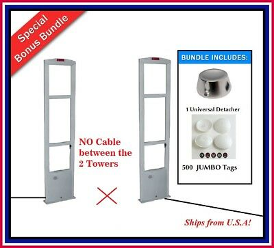 Wireless Double Door 500 Jumbo Tag Eas Rf Retail Anti Theft Security System