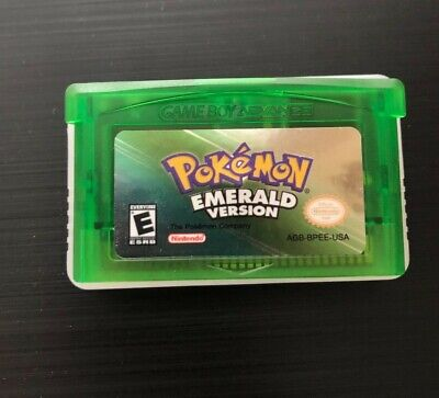 GBA Pokemon Emerald Works Perfectly & Saves Great Gift! Fast Shipping! (Read)