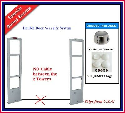 Wireless 6 Feet Double Door Pkg - Eas Rf Checkpoint Compatible Security System