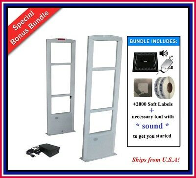 2000 Labels Retail Store Rf Checkpoint Compatible Anti-theft Security System