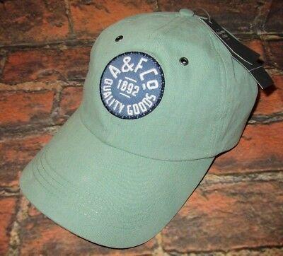 d873fc768e1d5 MENS ABERCROMBIE   FITCH LIGHT GREEN ADJUSTABLE HAT CAP ONE SIZE