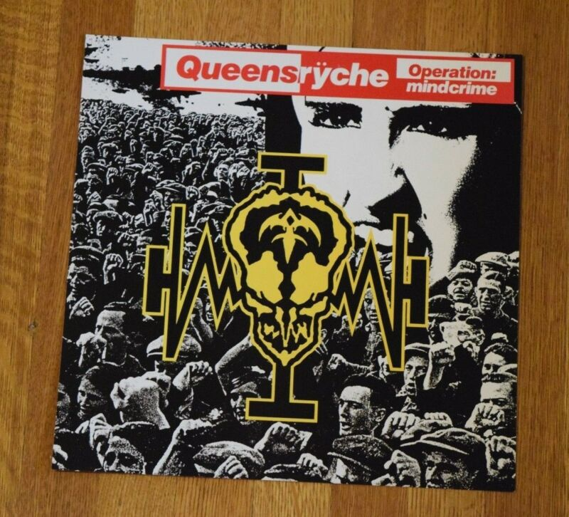 Queensryche Operation Mindcrime RARE 1988 Record Store Promo Album Flat Poster