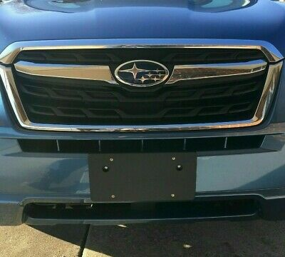 Front Round Bumper Holes License Plate Bracket for SUBARU NO DRILLING (Frames Styles 2016)