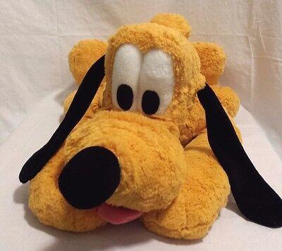"Disney Pluto Plush Stuffed Toy- Laying down with collar- DISNEYLAND original 23"""