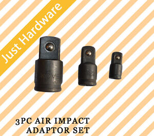 3PC Air Impact Adaptor Set New, 3/8
