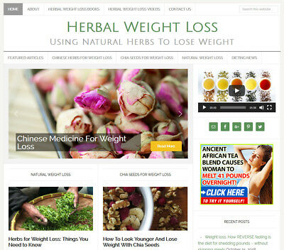 Herbal Weight Loss Niche Blog Website Business For Sale W Auto Content