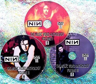 Button & FREE NINE INCH NAILS 50 Music Videos Collection 89-2016 3 DVD Set Trent