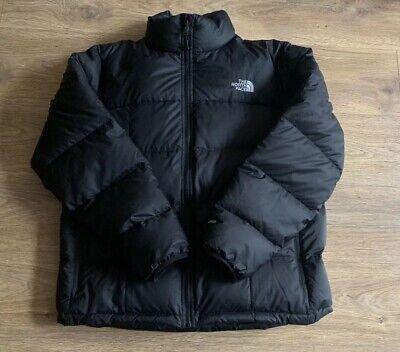 The North Face 550 Down Coat Jacket Nuptse Black puffer puffa size mens XXL