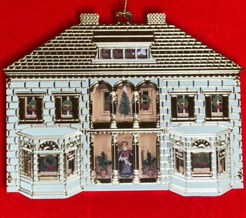 B&G Circa 1910 ECLECTIC Dollhouse Christmas Ornament Collection 24K Gold Plated