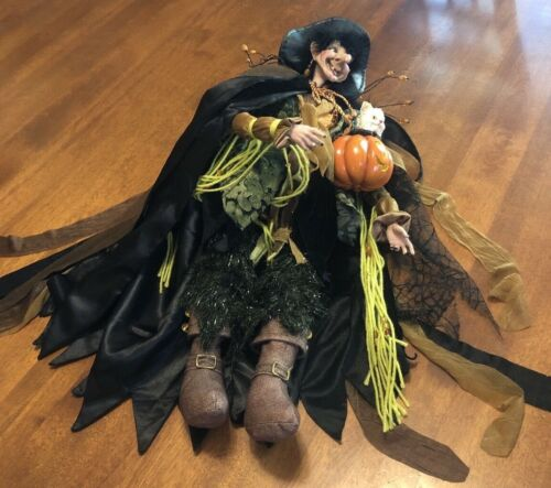"""Retired Large Mark Roberts Halloween """"Scared Cat Prince"""" 51-46594"""