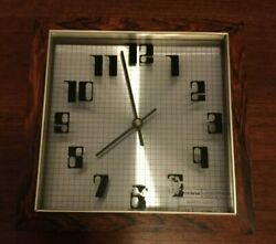 Vintage Alan Trembly Verichron Computer/Blueprint Grid Quartz Wall Clock 1977