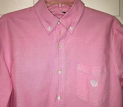 Ralph Lauren Men's Pink Oxford Cotton Button Down Shirt Chest Pocket Sz M (Button Down Chest Pocket Oxfords)