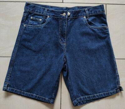 Damen 100% Baumwolle Kurze (Damen Sommerhose Jeans kurze Hose Gr. 38 Bermuda Short 100 % Baumwolle Shorts)