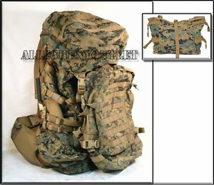 GEN-2-USMC-MARPAT-ILBE-MAIN-PACK-Straps-Belt-Lid-Pouch-ASSAULT-BACKPACK-VGC