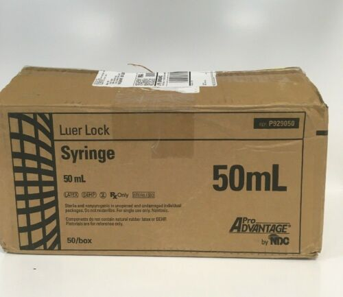 Box of 50 P929050 Pro Advantage Luer Lock Syringe 50 ml