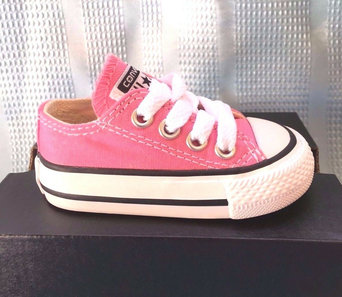 Converse Low Top All Star Ox Baby Boy Girl Toddler Infant Pink Shoes All  Sizes 3ecf76662c27d