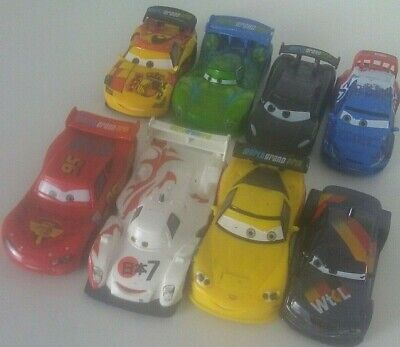 Disney Cars Cake Toppers (Disney Pixar Cars 2 PVC Lot of 8 World Grand Prix Cake Toppers (Non Moving))
