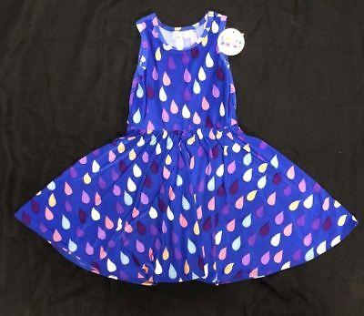 - NEW Smile Twirl Dress Summer Knit Toddler Girls Rain  Drops