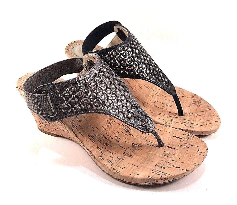 White Mountain Arnette Thong Wedge Sandals Choose Sz/ Color