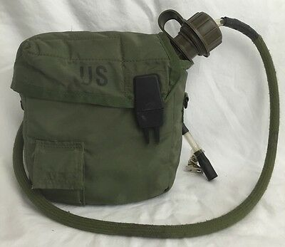 Genuine US Army Military 1993 OD Green 2 Quart Water Canteen W/ Pouch Used