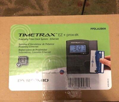 Pyramid Timetrax Ttez Prox Ppdlaubkn Automated Proximity Time Clock Syst..