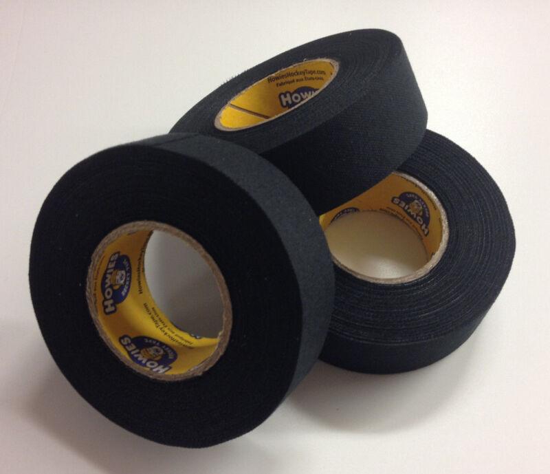 Black Hockey Tape - 1x15 Yards - 3 Rolls of Black Howie