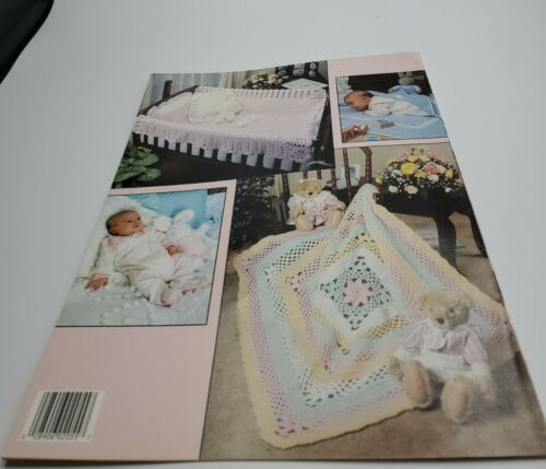 NOV20 L.A. 1991, BABY BLOCKS SQUARE AFGHANS TO CROCHET IN ONE PIECE - 5 DESIGNS - $10.00