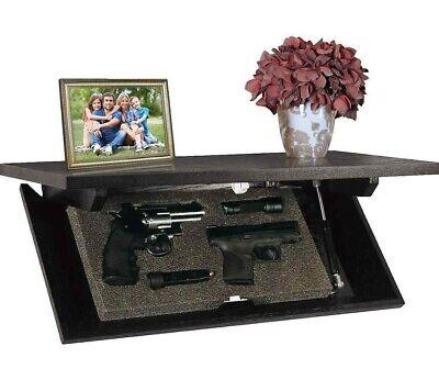 PS Products Concealment Shelf Safe ESPRESSO Hidden Gun Safe Work Home Security-