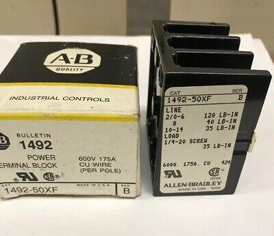 Allen Bradley Power Terminal Block 1492-50xf Ser B