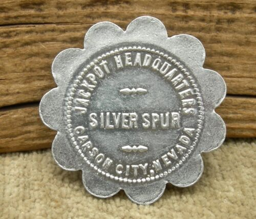 """old CARSON CITY, NV NEVADA (CC MINT) """"SILVER SPUR"""" CASINO GOOD FOR 1 DRINK TOKEN"""