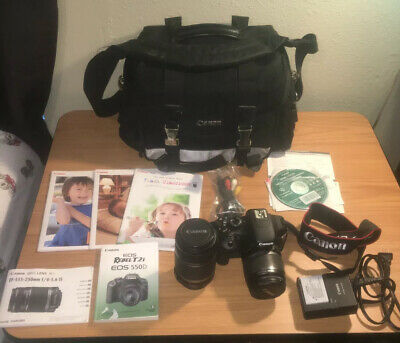 Canon EOS Rebel T2i Digital SLR Camera, Canon Bag 2 Lenses,Manuals,Battery......