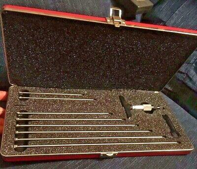 Starrett Metric Depth Micrometer 445maz-225rl 0-225mm Machinist Tool Box Find