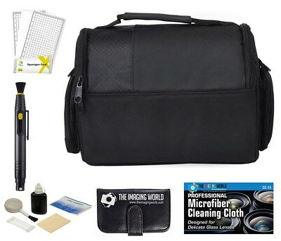 Camera Bag Case + Accessories Bundle for DSLR,, Mirrorless, Compact Cameras/Lens