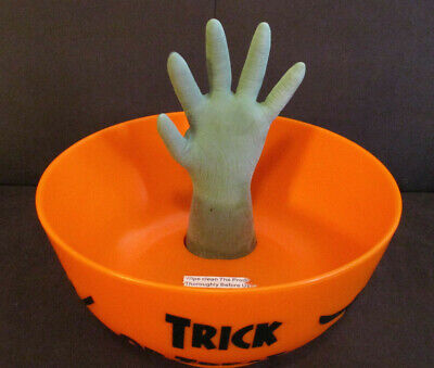 Gemmy Halloween Animated Hand Talking Candy Bowl