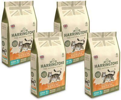 Harringtons Complete Senior 7+ Dry Cat Food Chicken Indoor Cats 4 Bags x 2 kg