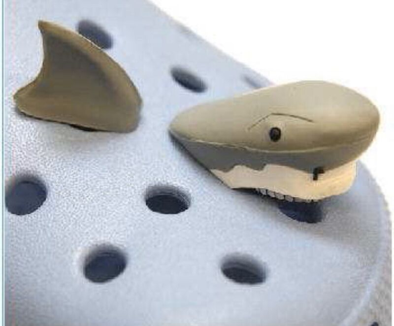 Awesome 3D Shark Shoe Charms For Crocs
