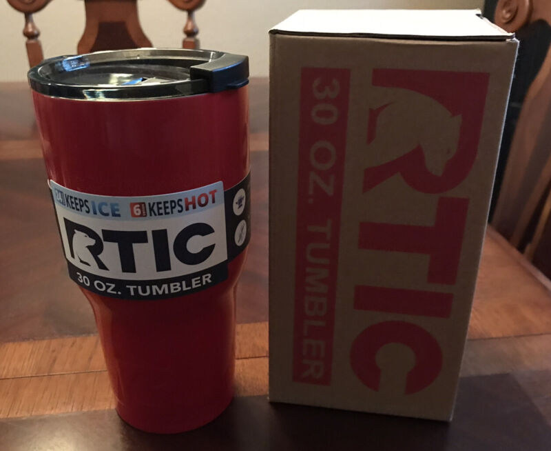 NEW RTIC 30 oz Tumbler Hot Cold Double Wall Vacuum Insulated 30oz RED