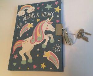 Girls A6 Unicorn Secret Diary 2019  Lockable Journal Christmas Gift