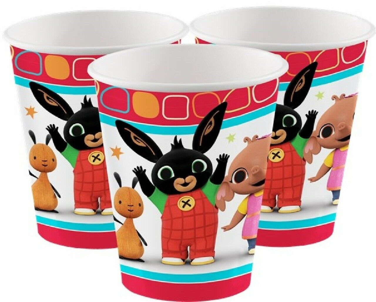Boys Girls Toddlers Birthday Party Bing Bunny Flop Tv Character Tableware plates