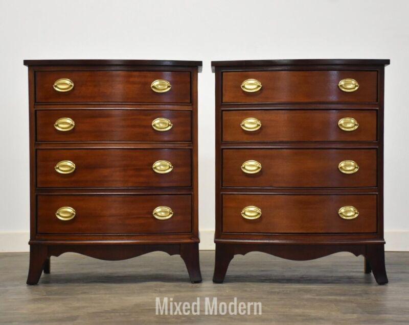 Thomasville Mahogany Hepplewhite Style Nightstands- a Pair