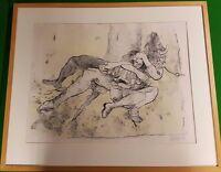 Angela Gill Untitled Minotaur And Girl Ink Charcoal Pastel 1992 Signed -  - ebay.co.uk