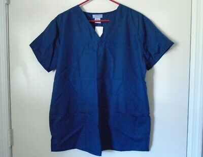 Navy Medical Scrubs (Authentic Brand~Navy Blue Medical Scrub Top Shirt~Scrubs Unisex size M~NWT~New)
