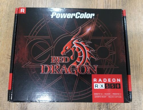 PowerColor AMD Radeon RX 550 4GB Red Dragon AXRX 4GBD5-DH Graphics Card IN HAND - $229.99