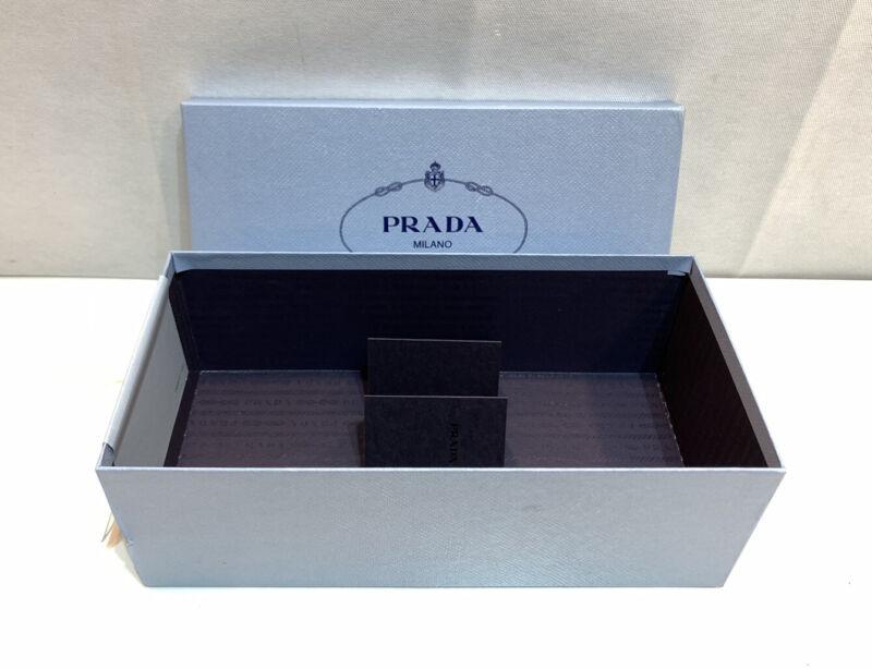 "AUTHENTIC PRADA MILANO EMPTY BOX WITH AUTHENTIC CARD 12"" x 6"" x 4"""