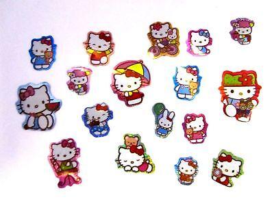 100 x Childrens Girls Mini Hello Kitty Stickers Party Bag Fillers Reward Chart
