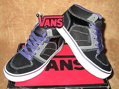 NEW VANS ELLIS MID SKATE SHOE CS BLK/PURPLE YOUTH 11, 11.5, 12.5, 13, 13.5, 1, 2 - 2 Mid Skate Schuhe
