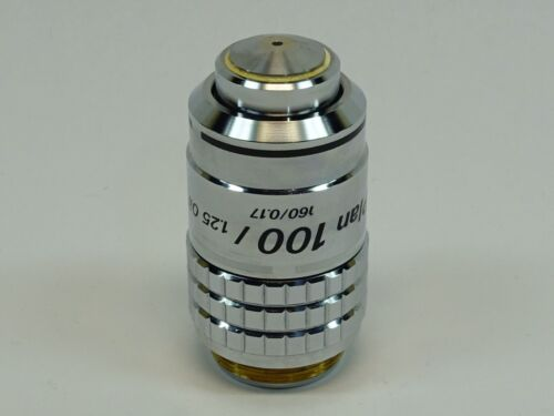 Nikon Plan 100x/1.25 160/0.17 Oil Microscope Objective; Outstanding Condition